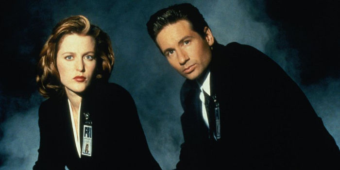 X-Files agenti Fox Mulder e Dana Scully